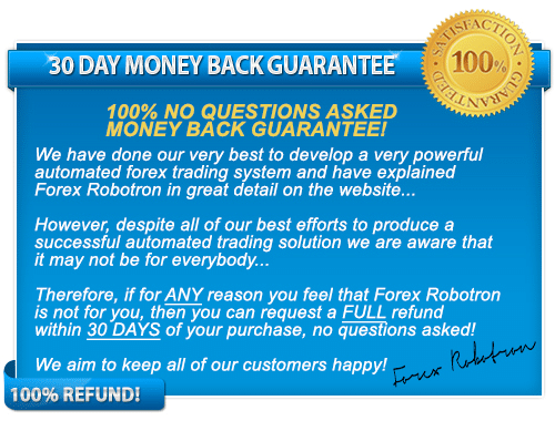 Forex Robotron Moneyback Guarantee