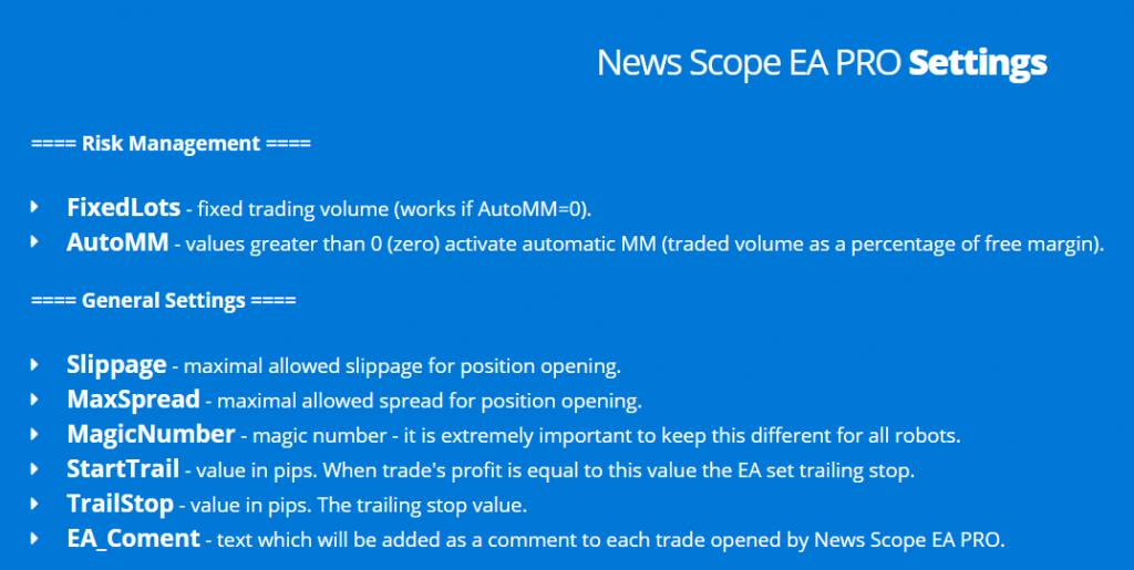 News Scope EA Pro Robot News Filter