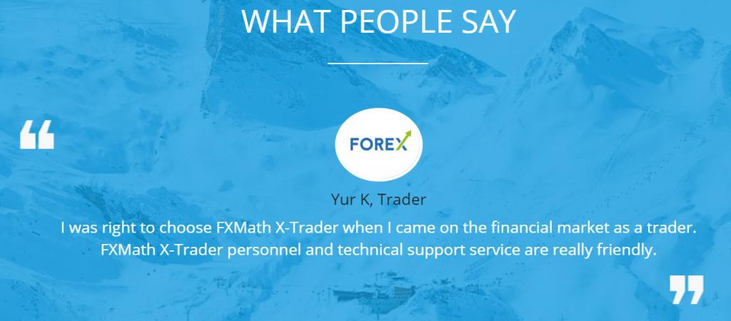 FXMATH X-TRADER Robot feedback