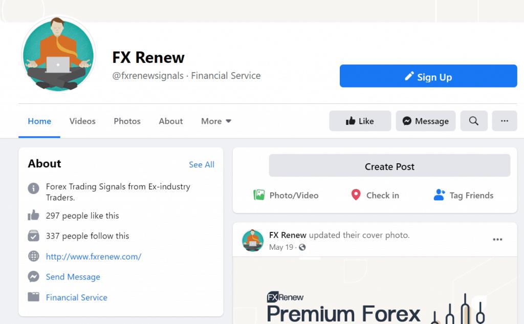FX Renew Social network
