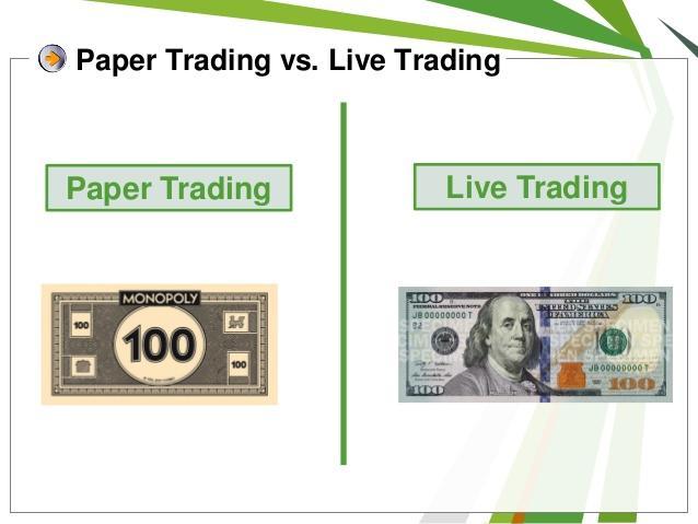 Paper Trading Vs.Live trading