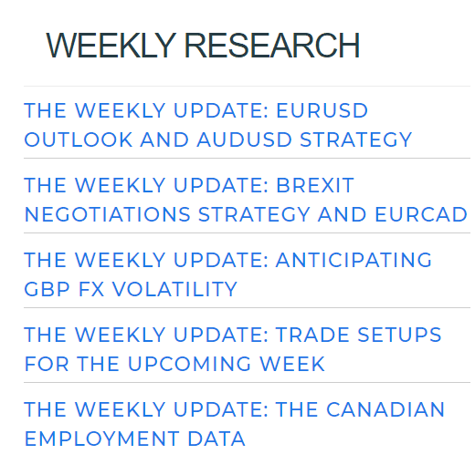 DD Markets weekly research