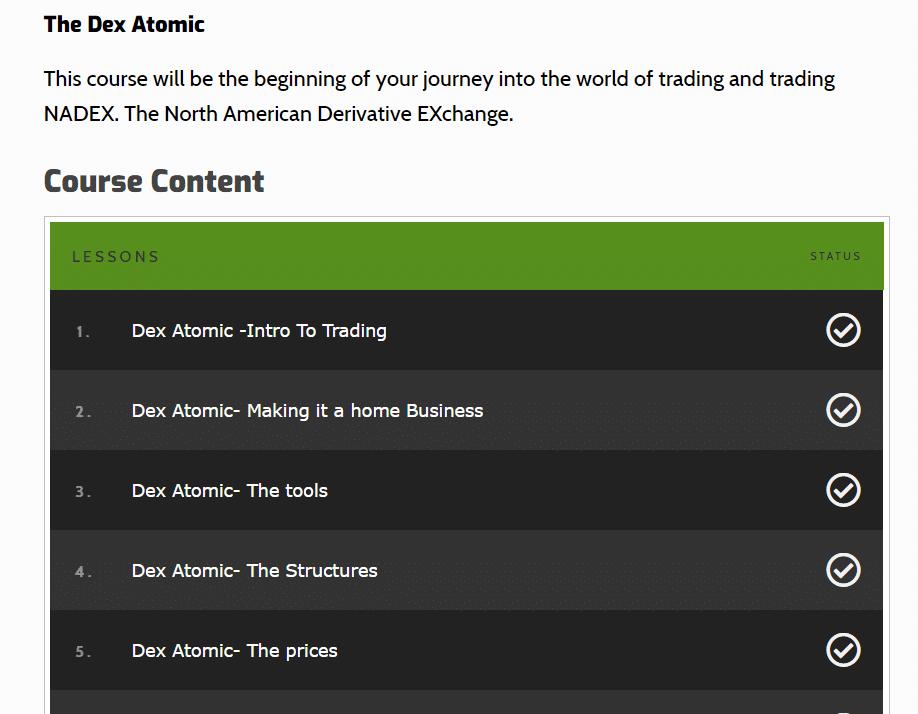 DexFxMarkets course content