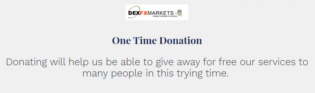 DexFxMarkets donation page