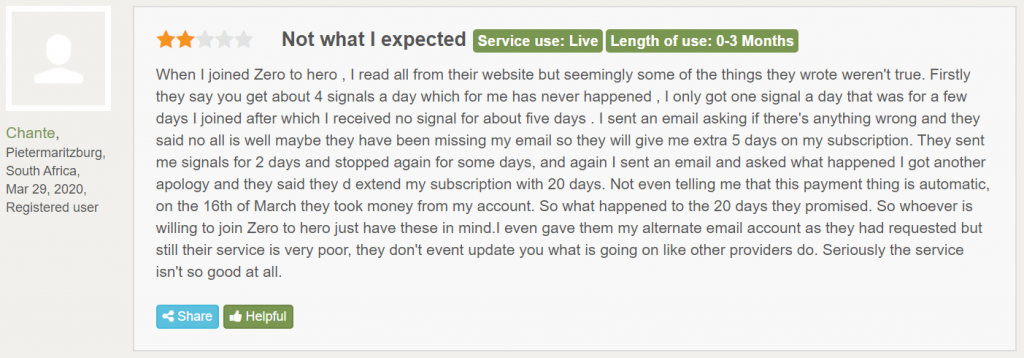 Hero Forex Signals People feedback