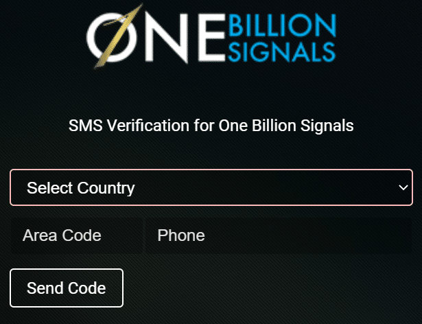 One Billion Signals sms verification