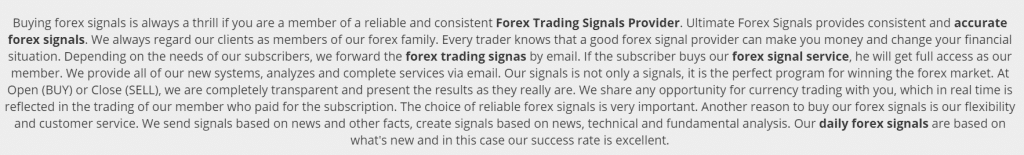 Ultimate Forex Signals