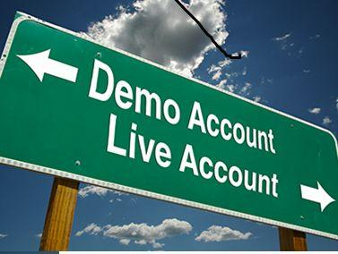Demo vs. real account