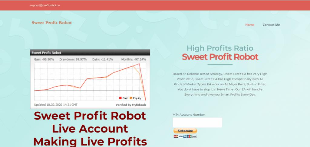 Sweet Profit Robot presentation