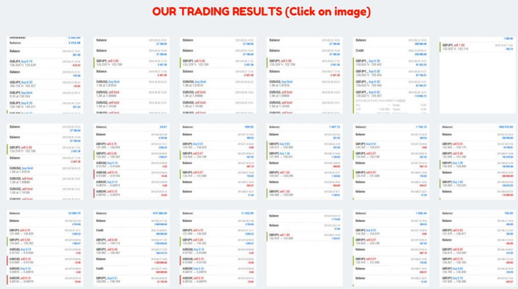Standard FX Trading Results