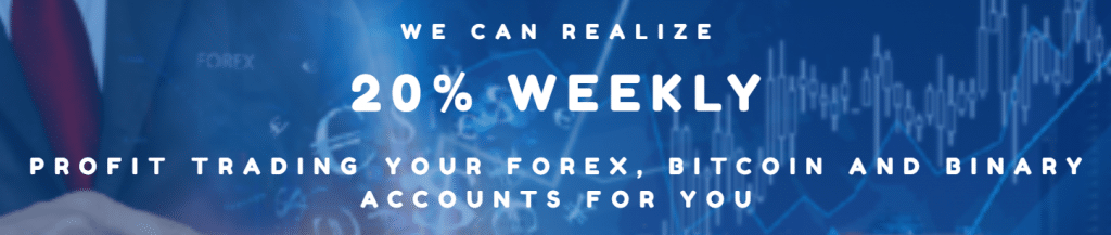 Standard FX offers us 20% of the weekly profit