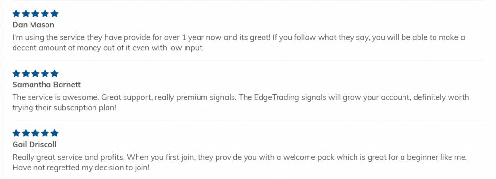 Edge Trading People feedback