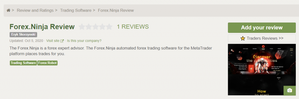 Forex Ninja People feedback
