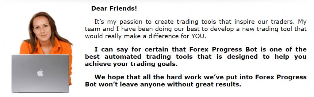 Forex Progress Bot presentation