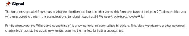 Learn 2 Trade - signal