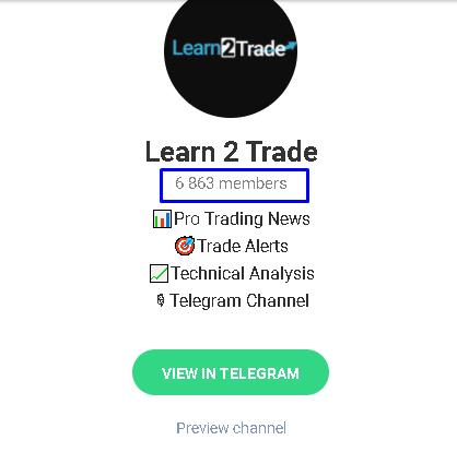 Learn 2 Trade Telegram channel