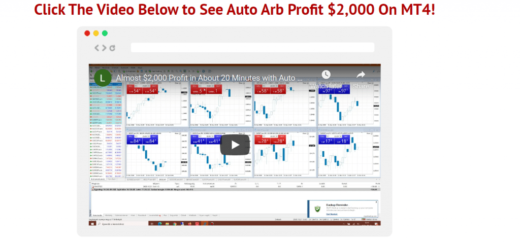 Auto Arb Trading Results