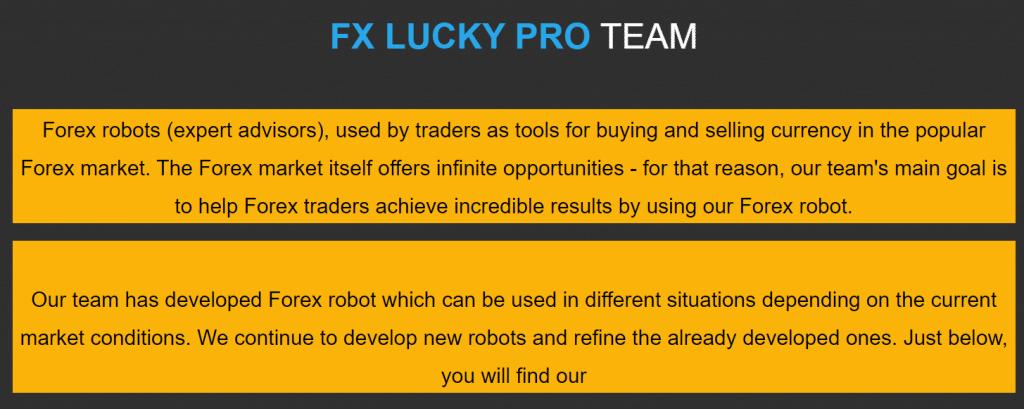 FX Lucky Pro team