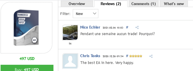 Ranger EA Customer reviews