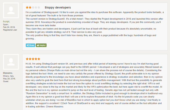 StrategyQuant X Customer Reviews