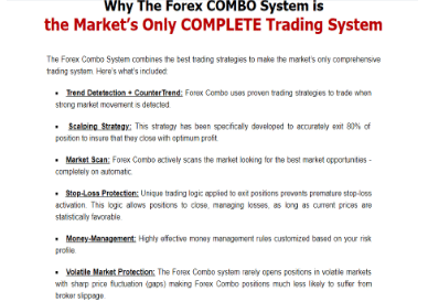 Forex Combo System Applied Strategies
