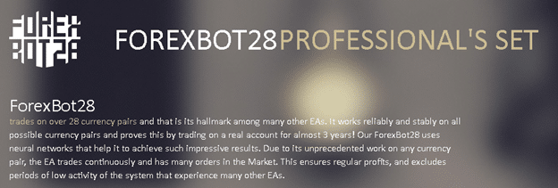 ForexBot28 EA presentation