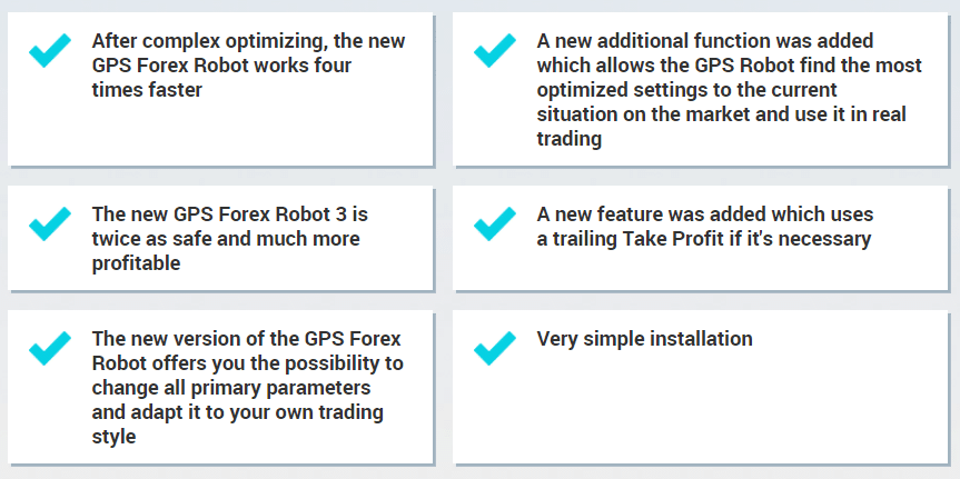 GPS Forex Robot. The least 3-rd version works much faster than the previous one.