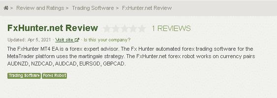FX Hunter customer reviews