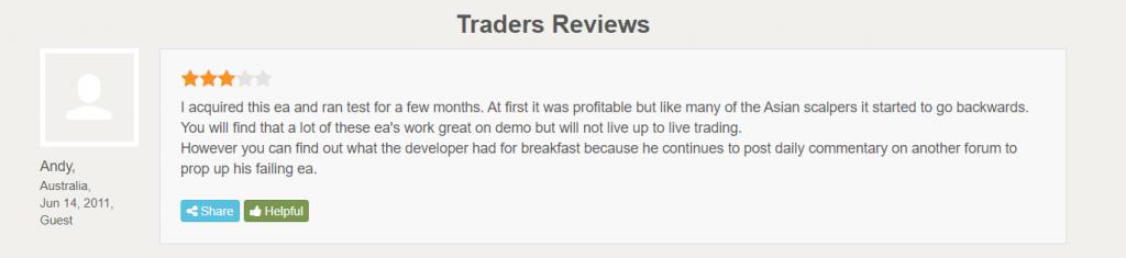 Forex Real Profit EA Customer Reviews