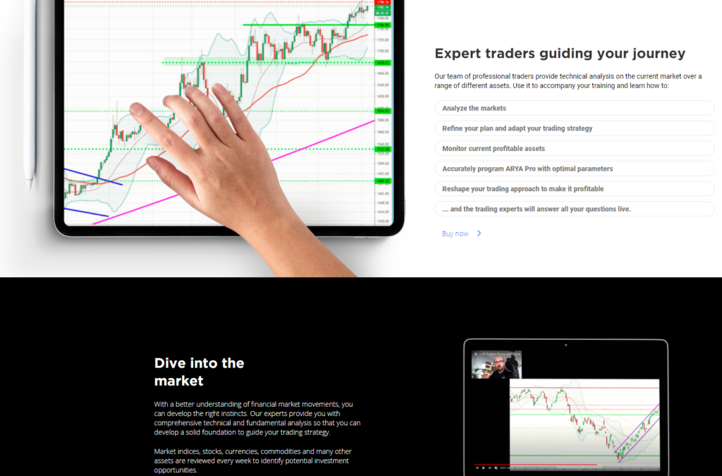 Arya. Expert traders guiding your journey