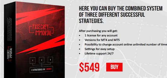 FXSecret Immortal Pricing