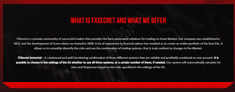 FXSecret Immortal - offer
