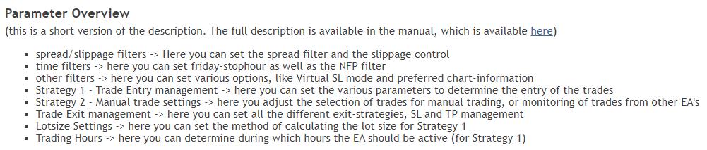 Advanced Scalper parameters