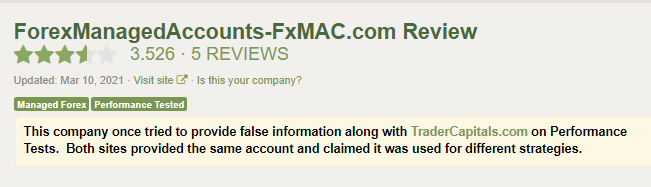 FXMAX page on the Forex Peace Army website.