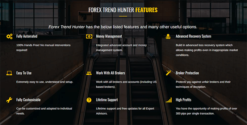 Forex Trend Hunter Features