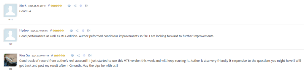 NightVision EA testimonials.